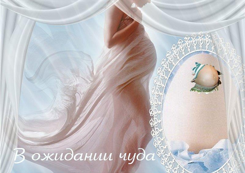 Вставить лицо шаблон беременных